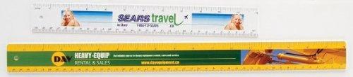 4 Colour Process Rulers - 12 - Durable Plastic - 4 Color Process Printed - 4/0