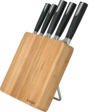 6 Pc Bamboo Knife Block Set