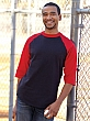 AlStyle - 1334 - Classic Collection - Adult Ringer Tee - 3/4 Sleeve - 100% Cotton