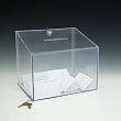 Ballot Box - Locking - 11,5 W x 9,5 H x 8,5 D  - Clear