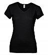 Bella+Canvas - 1005 - Baby Rib Short Sleeve V-Neck Ladies Tee - 100% Cotton