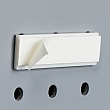 Brochure Holder Accessories - Bracket for Pegboard with Permanent Adhesive