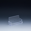 Business cards holder - 4 W x 2,25 H x 1 D - Clear durable acrylic - Single pocket