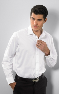 Calvin Klein 18CK010 - Men's Long Sleeve Shirt - 97% Cotton