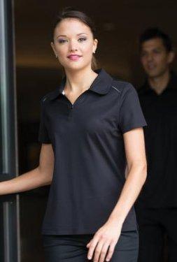 Coal Harbour - L4002 - Snag Resistant Contrast Inset Ladies Sport Polo Shirt