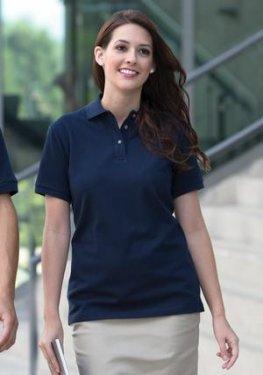 Coal Harbour - L400 - Classic Pique Ladies Sport Polo Shirt - 100% cotton pique