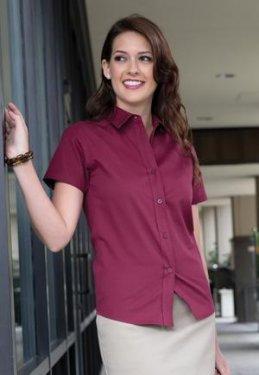 Coal Harbour - L510 - Easy Care Short Sleeve Ladies' Shirt - 55/45