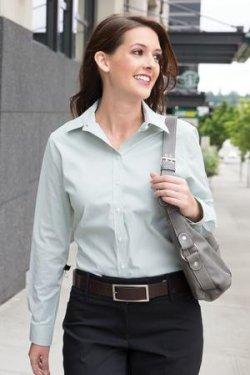 Coal Harbour - L6006 - Mini Stripe Ladies Woven Shirt - 67/30/3