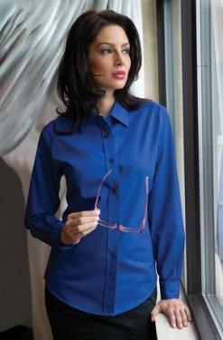 Coal Harbour - L610 - Easy Care Long Sleeve Ladies Shirt - 55/45