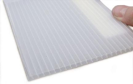 Coroplast Sheet - 4mm - 48 x 96 - Clear