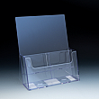 Counter Brochure Holder up to 4 Width - 4 pockets -  9,125 W x 11,0625 H x 5,5 D - Clear