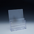 Counter Brochure Holder up to 6 Width - 2 pockets -  6,375 W x 8,4375 H x 4,625 D - Clear