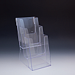 Counter Brochure Holder up to 6 Width - 3 pockets -  6,25 W x 9,375 H x 6 D - Clear