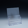 Counter Brochure Holder up to 8-1/2 Width - 2 pockets - 9,125 W x 11,0625 H x 5,5 D - Clear