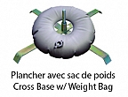 Cross Bass for floor w/ Weight Bag Flag Serie T-FLAG, F-FLAG, R-FLAG