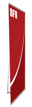 DFA Telescopic 4 - TEL-4 - 31 x 77 - Economy Non-retractable Banner Stand - w. Bag