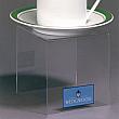 Display Bridges - 3 W x 3 D x 3 H - Clear durable acrylic