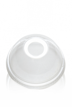 Lids for Clear Plastic Cups - Domed Lid fits 16oz