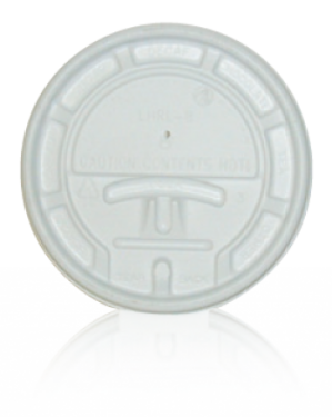 Lids for Paper Cups - 10,12,16,20oz white tear tab lid