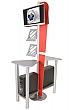 Linear Monitor Kiosk Kits 03 - Choice of tabletop finish with case