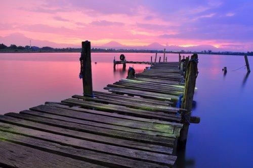 Dock Sky Water landscape