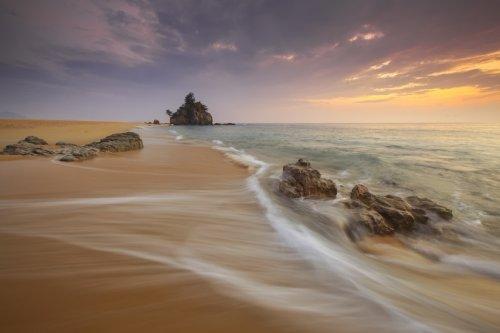 Paysage de plage sur mer