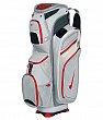 Nike - M9 cart II - Golf Bags - Metallic Silver/Red