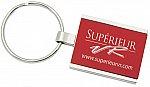 Rectangular colored metal key tag #RushExpress72hrs