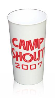 Reusable Plastic Cups - 12 oz. / White/Stadium