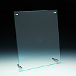 Slanted Sign Holder - Premium - 8,5 W x 11 H - Clear durable acrylic