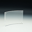 Slanted Sign Holder - Premium - Panels Snap Magnets - Curved - 11 W x 8,5 - Clear durable acrylic