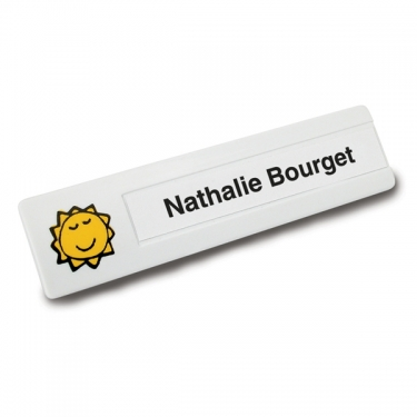Slimline Personalized badge