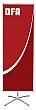 Telescopic 1 - TEL-1 - 23.5 x 36 to 70 - Econo Non-retractable Banner Stand - w. Bag