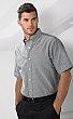 VanHeusen 18CV042 - Men's Oxford Short Sleeve Shirt - 60/40