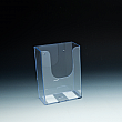 WallMount Brochure Holder up to 4 Width - extra capacity - 1 pocket -  4,75 W x 6,5 H x 2,75 D - Clear