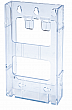 WallMount Brochure Holder up to 4 Width - Lit Loc™ - 1 pocket - Clear