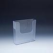WallMount Brochure Holder up to 6-3/8 Width - 1 pockets -  6,375 W x 6,5 H x 1,6875 D - Clear