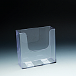 WallMount Brochure Holder up to 6-3/8 Width - extra capacity - 1 pockets -  6,625 W x 6,5 H x 2,75 D - Clear