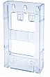 WallMount Brochure Holder up to 6 Width - Lit Loc™ - 1 pocket - Clear