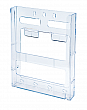 WallMount Brochure Holder up to 8-1/2 Width - Lit Loc™ - 1 pocket - Clear