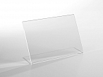 Counter Sign Holder - Easel Back - 11 W x 8,5 H - Clear durable acrylic