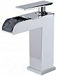 Robinet de salle de bain Riveo - 6-27/32 - Chrome - Bonde de vidange et plaque de recouvrement incluses