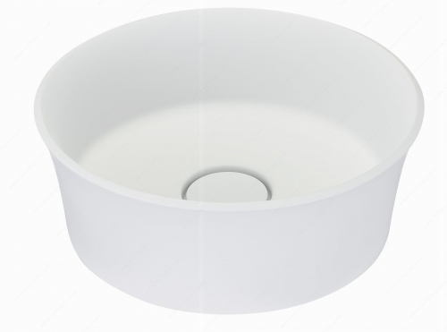 Riveo Vessel - Round Alm07341 - 379 mm x 379 mm - White
