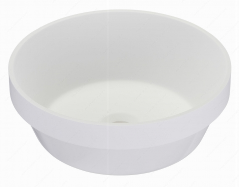 Riveo Vessel - Round Alm07403 - 370 mm x 370 mm - White