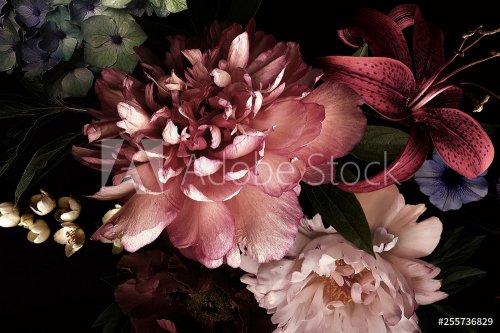 Floral background. Vintage flowers.