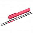 ASOBU Stainless Steel Reusable Straws with Flexible Silicone Section - Pack of 2