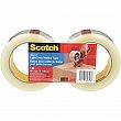 3M - 3710-CAC - Scotch® 3710-CAC Box Sealing Tape - Hot Melt -  48 mm (2) x 100 m (328')
