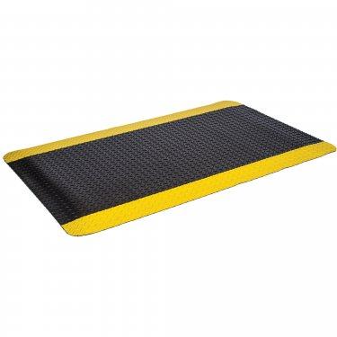 MAT TECH - CUMR24YBSM-4 - Industrial Deck Plate Mats - 2' x 4' - 9/16 - Black with Yellow Border - Unit Price