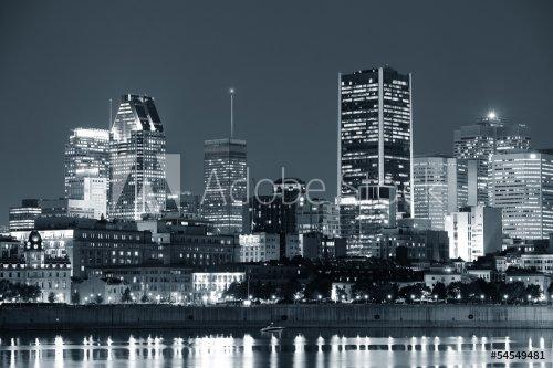 Bleu- Montréal la nuit