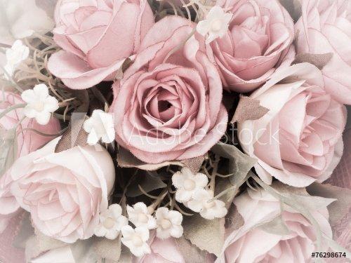 bouquet de rose en tissu